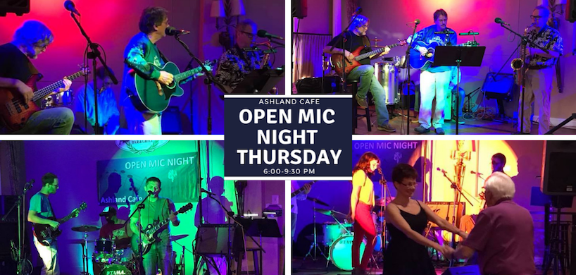 photos of Open Mic event at Ashland Cafe