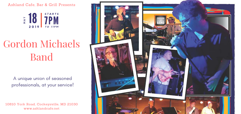 flyer of Gordon Michaels band's performance at Ashland