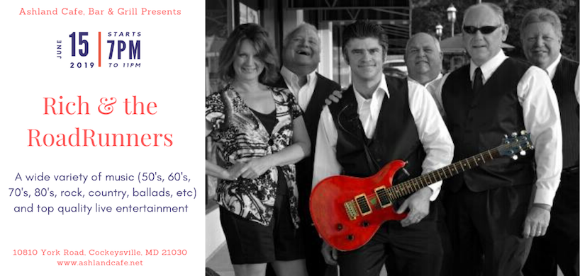 flyer of Rich & Road Runners band's performance at Ashland