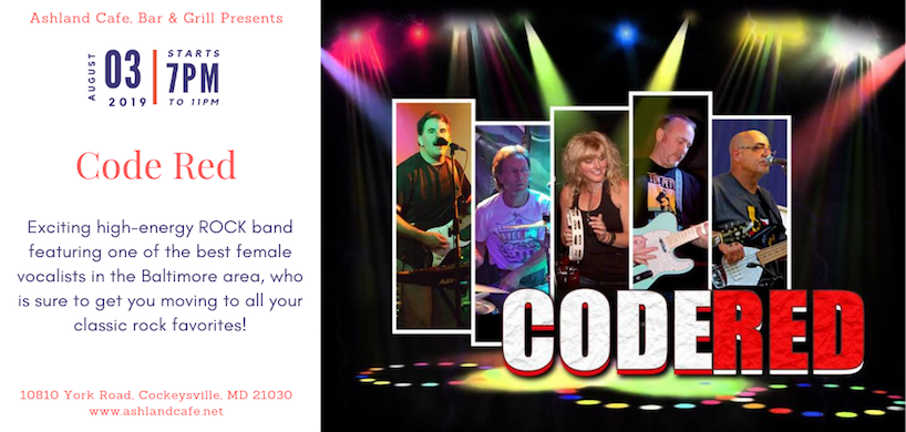 flyer of Code Red Band performance at Ashland